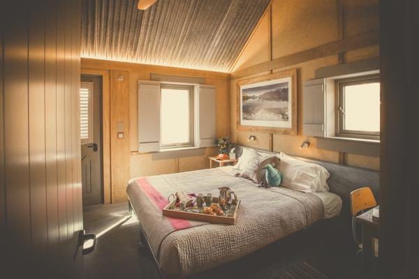 cabin at the wellness retreat