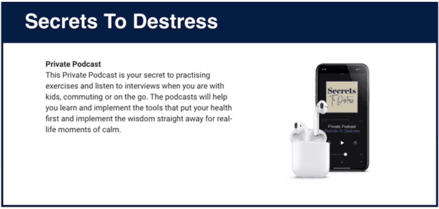 secrets to destress